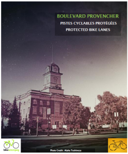Poster for Provencher Boulevard Protected Bike Lane Project